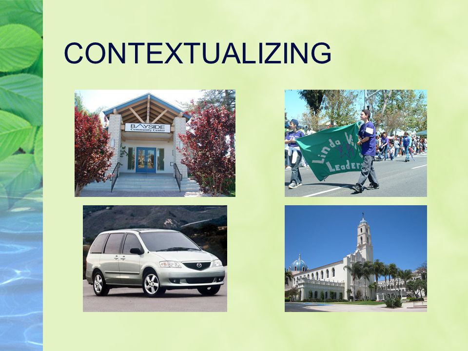CONTEXTUALIZING