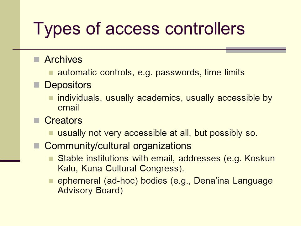 Types of access controllers Archives automatic controls, e.g.