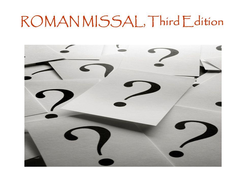 ROMAN MISSAL, Third Edition