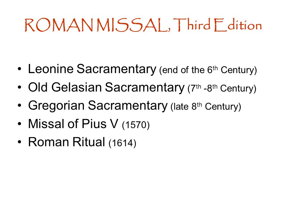 Sacrosanctum Concilium (December 4, 1963) –full, conscious and active participation of the people...