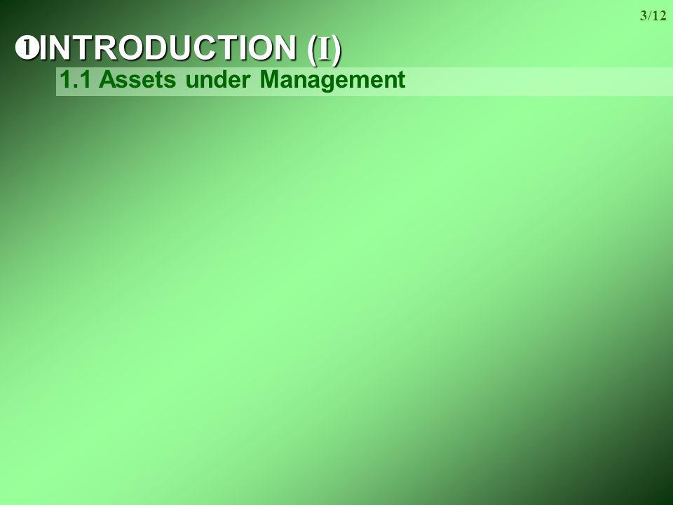 3/12  INTRODUCTION (I) 1.1 Assets under Management