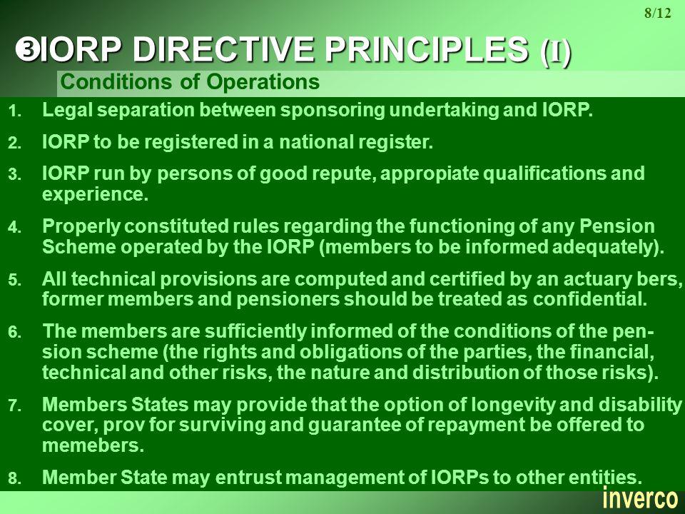 1. Legal separation between sponsoring undertaking and IORP.