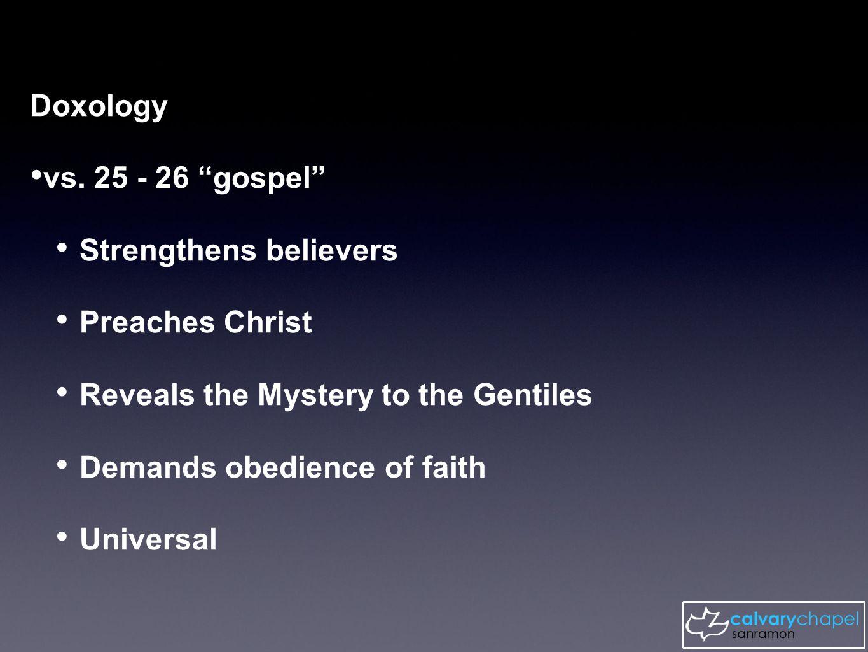 vs.27 The wisdom of providing The Way through Jesus.