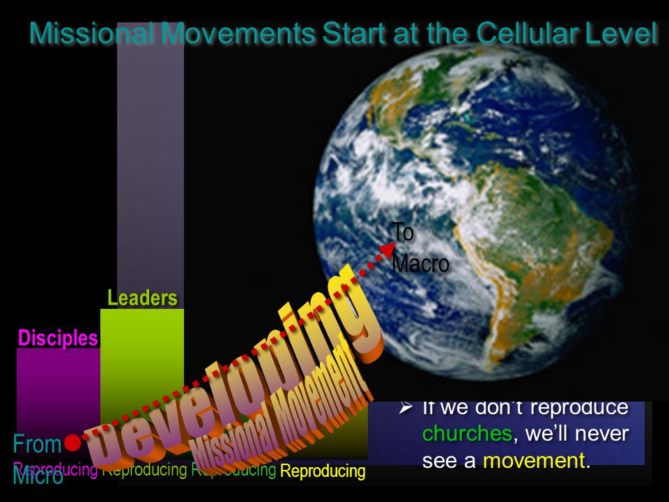 Disciples Leaders Churches Movements  If we don't reproduce disciples, we ll never reproduce leaders.