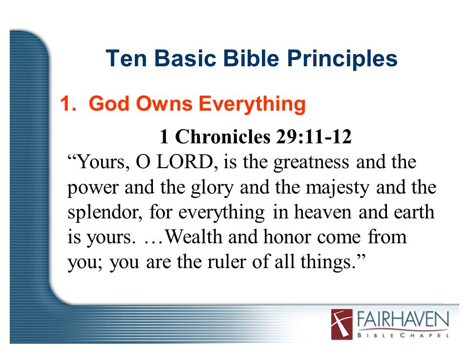 Ten Basic Bible Principles 1.