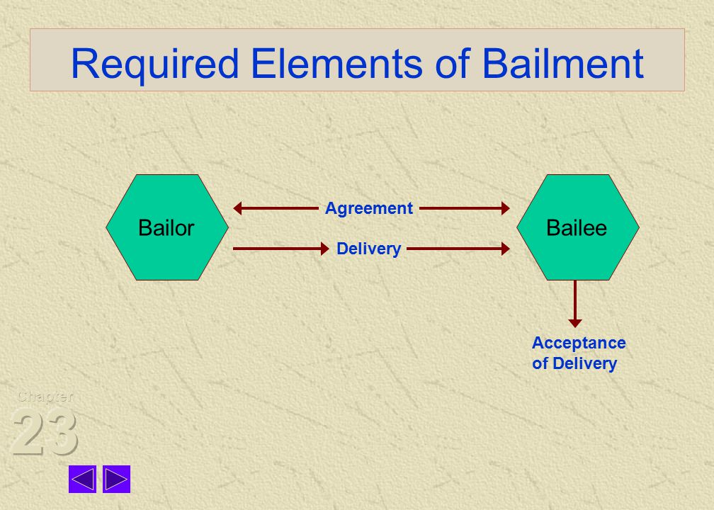 Classifications Bailments may be classified in terms of benefit: (1) sole benefit of the bailor, (2) sole benefit of the bailee, or (3) benefit of both parties (mutual benefit bailment).