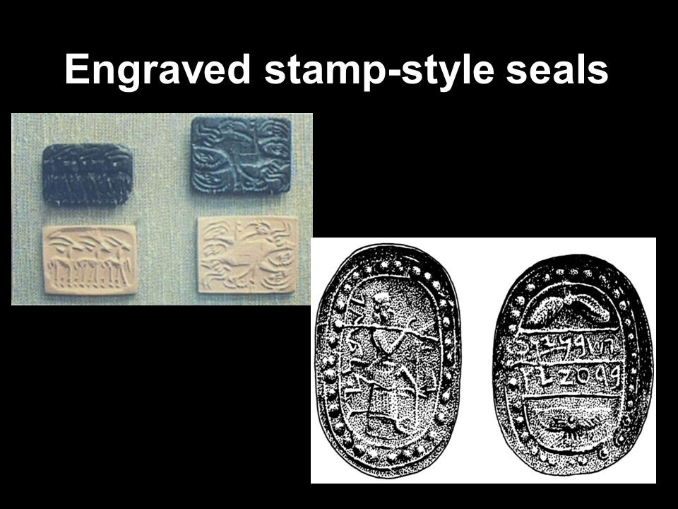 Engraved stamp-style seals