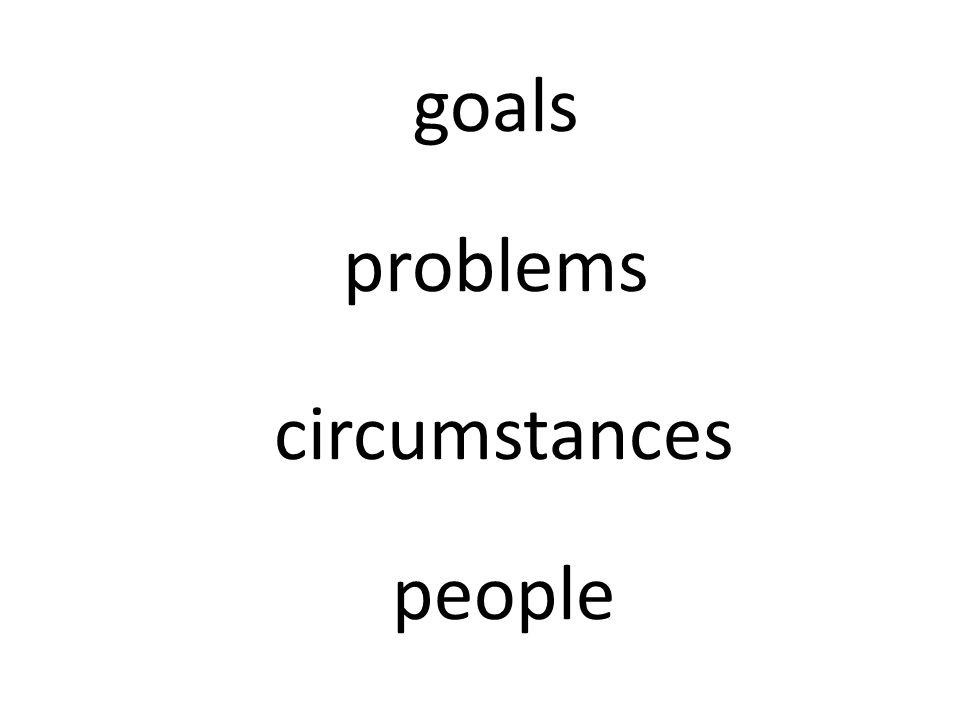 goals problems circumstances people