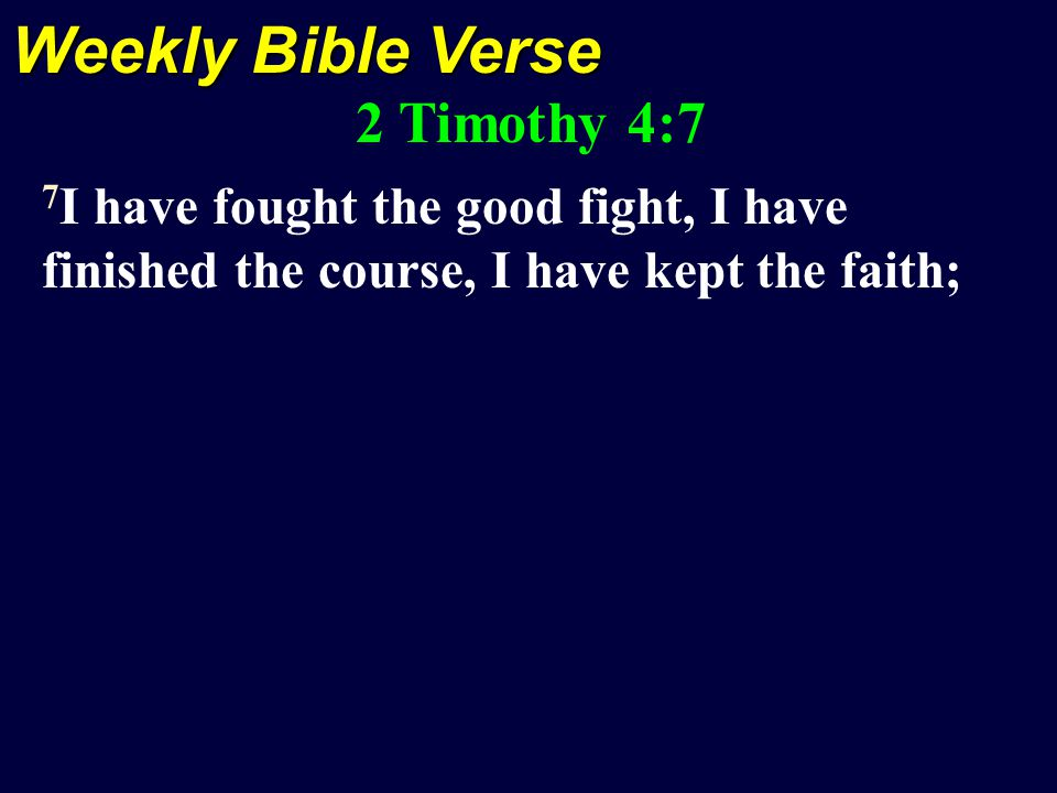 Scripture Reading 1 Timothy 1:18-20 18 This command I entrust to you, Timothy, my son, in accordance with the prophecies previously made concerning you, that by them you fight the good fight, 19 keeping faith and a good conscience, which some have rejected and suffered shipwreck in regard to their faith.