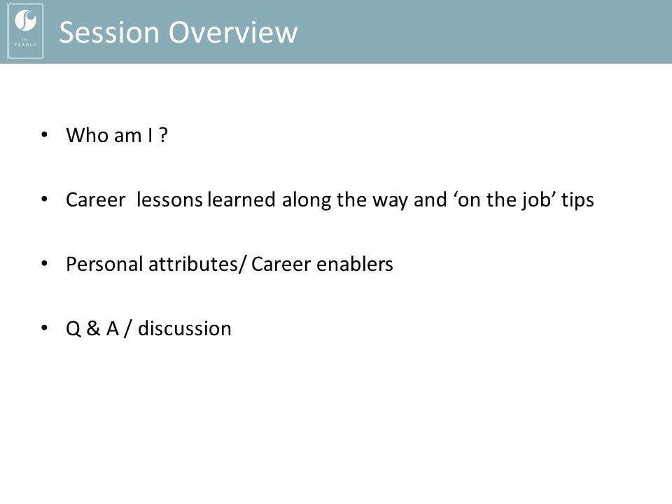 Session Overview Who am I .