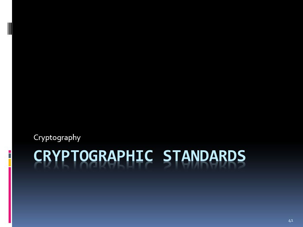 41 Cryptography