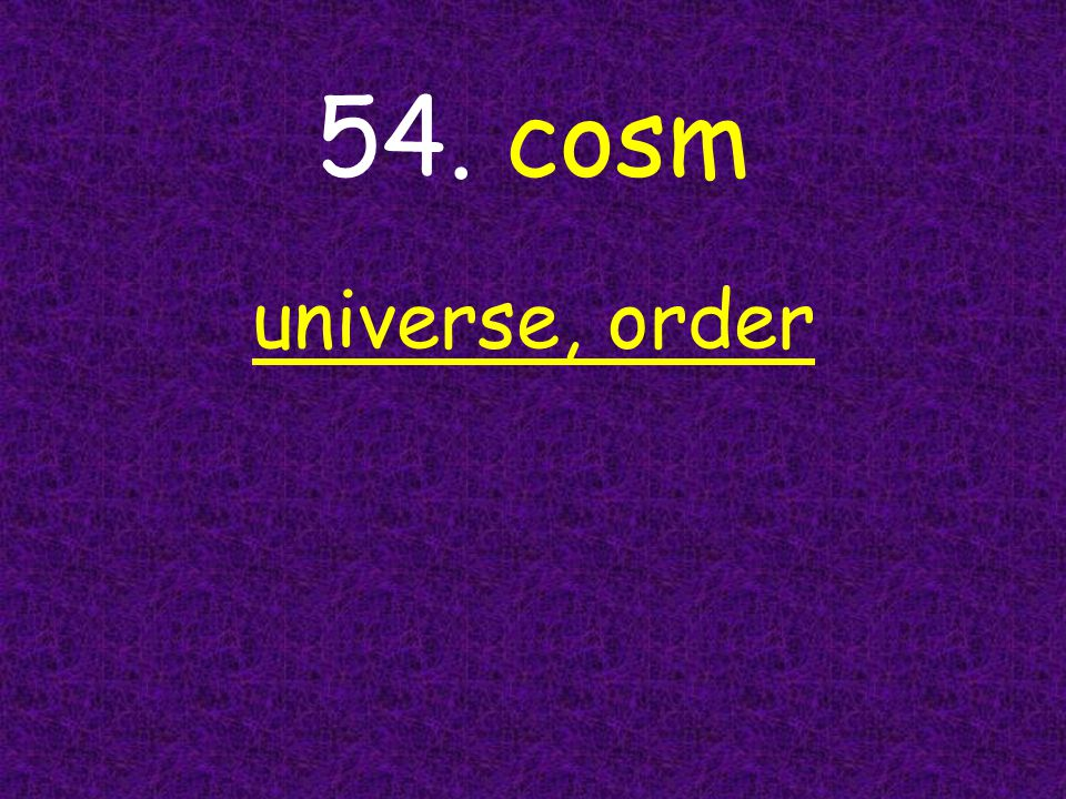 universe, order