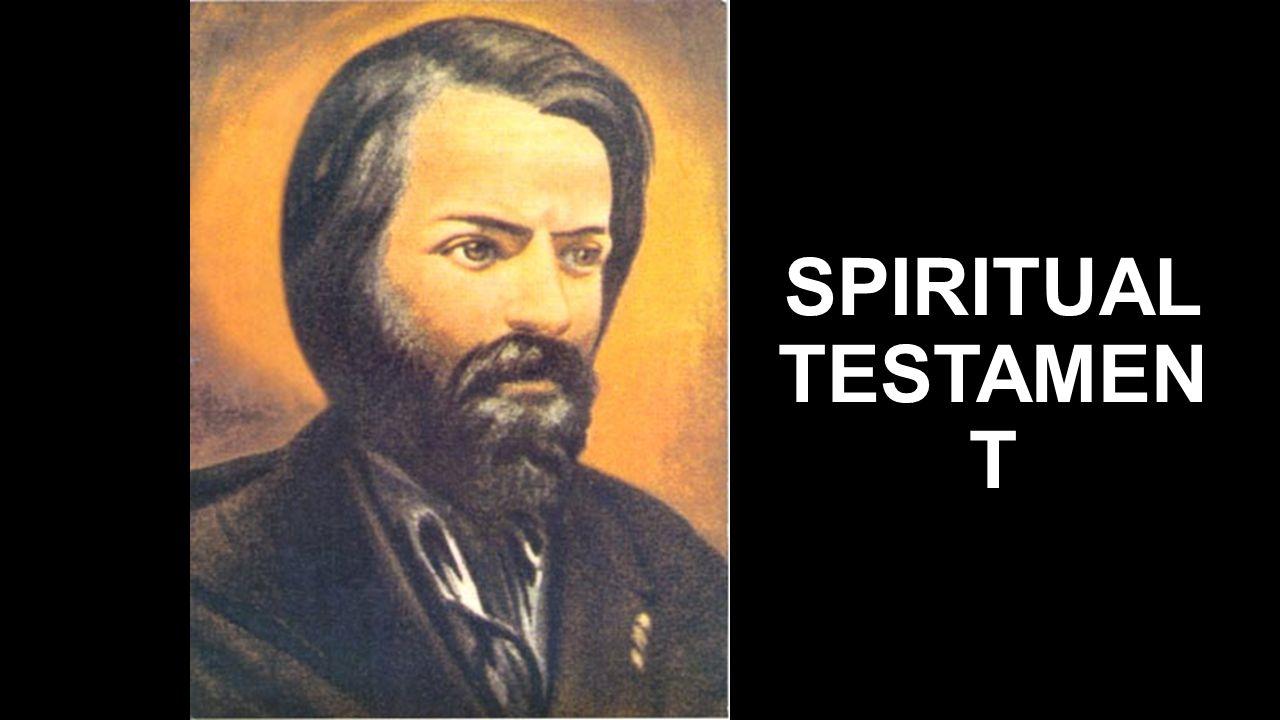 SPIRITUAL TESTAMEN T