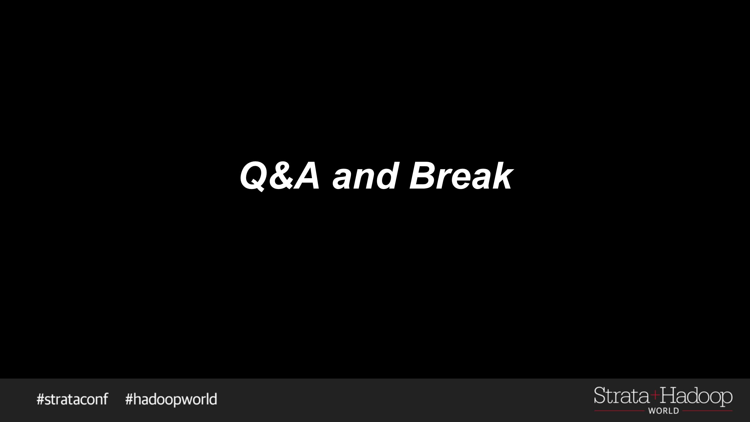 Q&A and Break