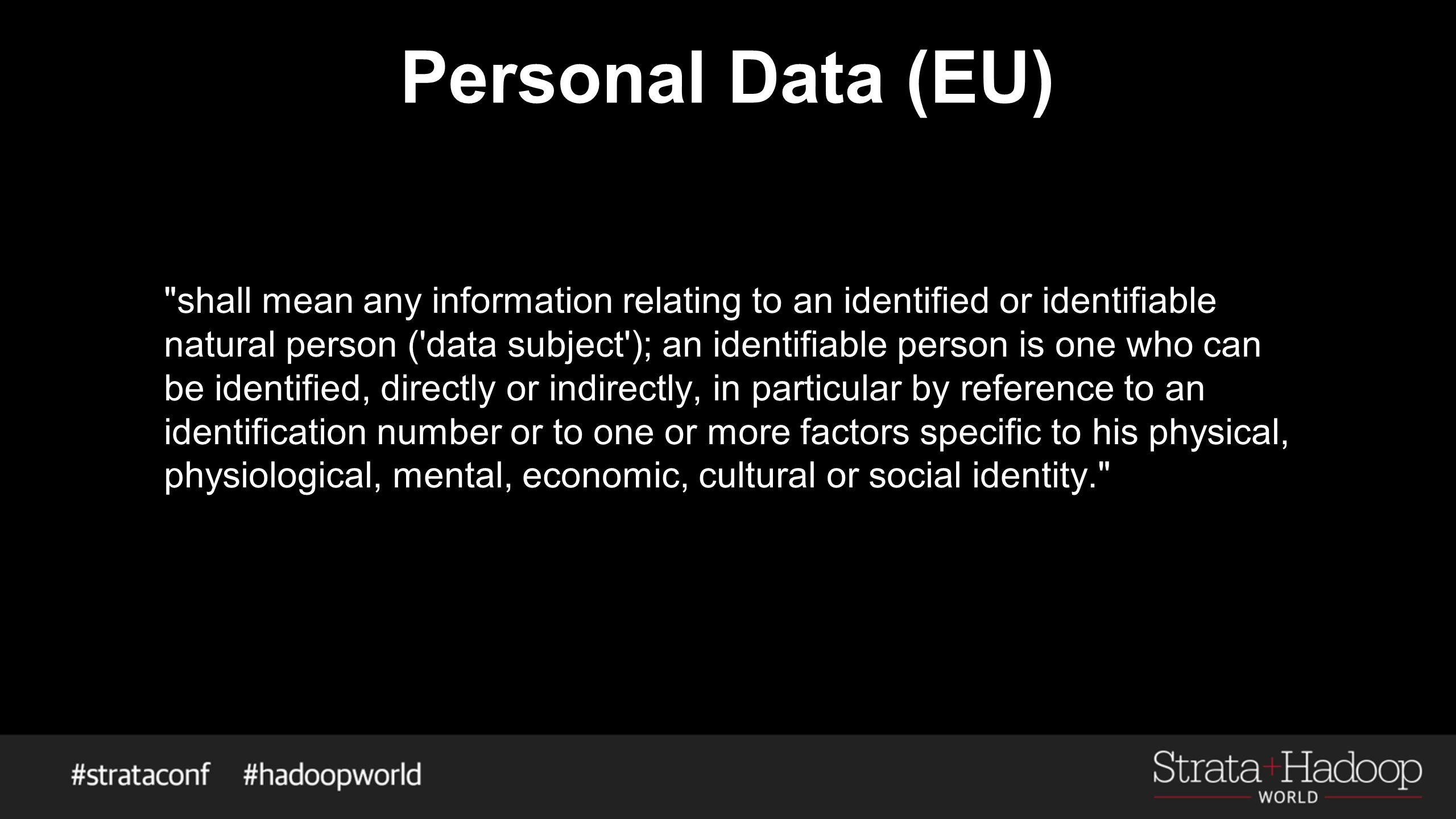 Personal Data (EU)
