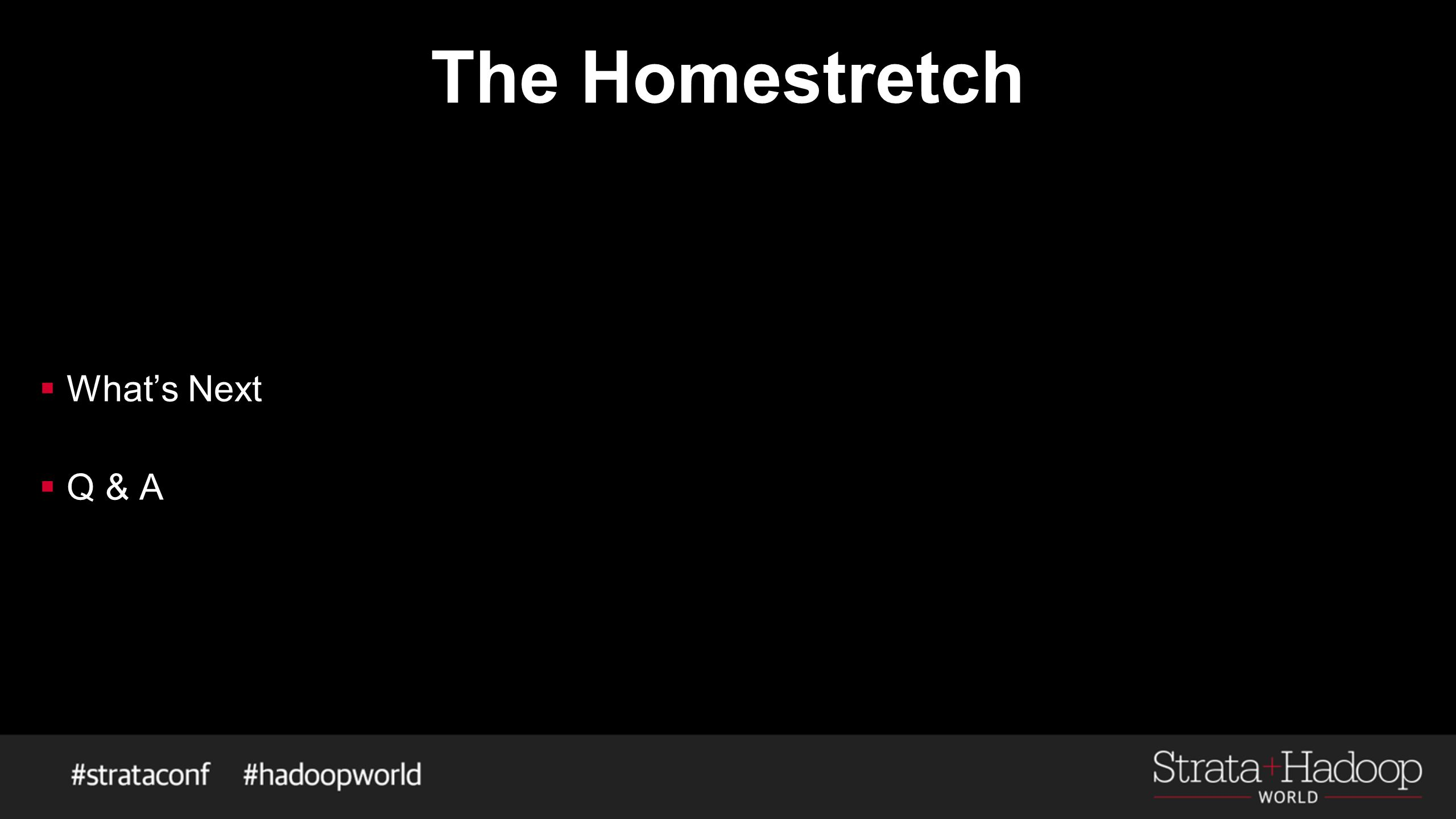 The Homestretch  What's Next  Q & A