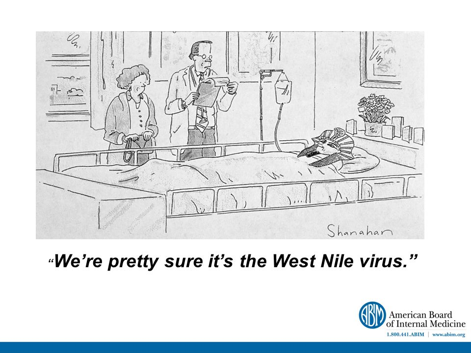We're pretty sure it's the West Nile virus.