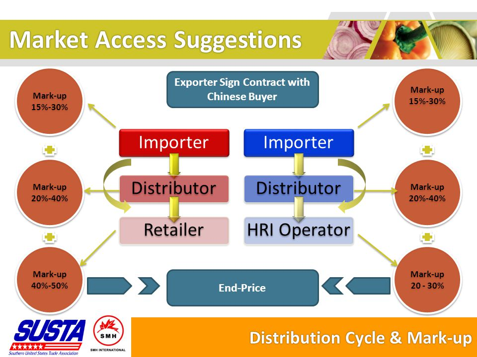 Market Access Suggestions IPR Issue  Recognition of brand image and product image is improving in China  Successful cases are easily to be copied by local companies, affecting the brand.