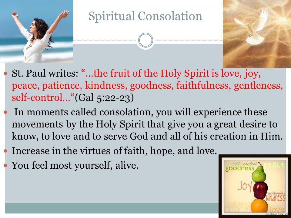 Spiritual Consolation St.