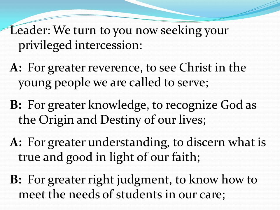 Meeting with the Students The school selects 2 students from each grade 5-8 Do you know the mission statement (1.5).