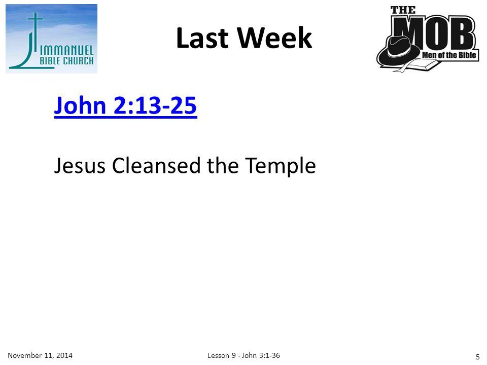 Lesson 9 - John 3:1-36November 11, 2014 16 Where is Jerusalem?