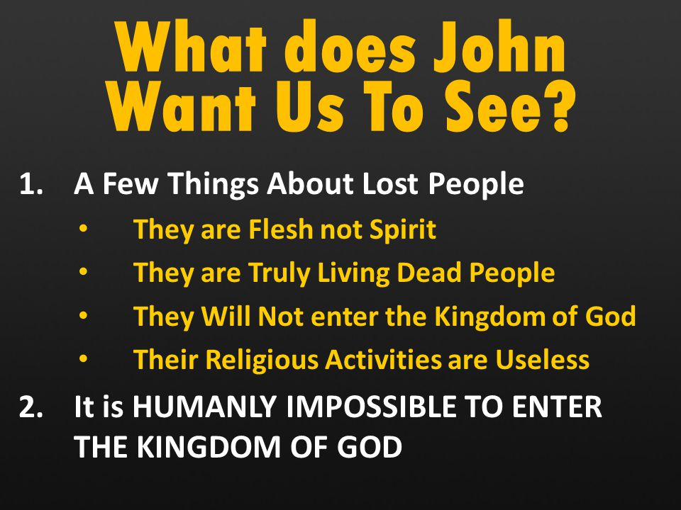 What does John Want Us To See.