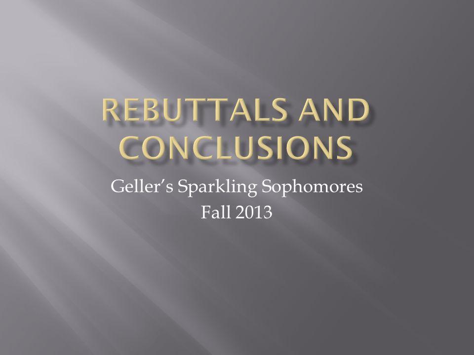 Geller's Sparkling Sophomores Fall 2013