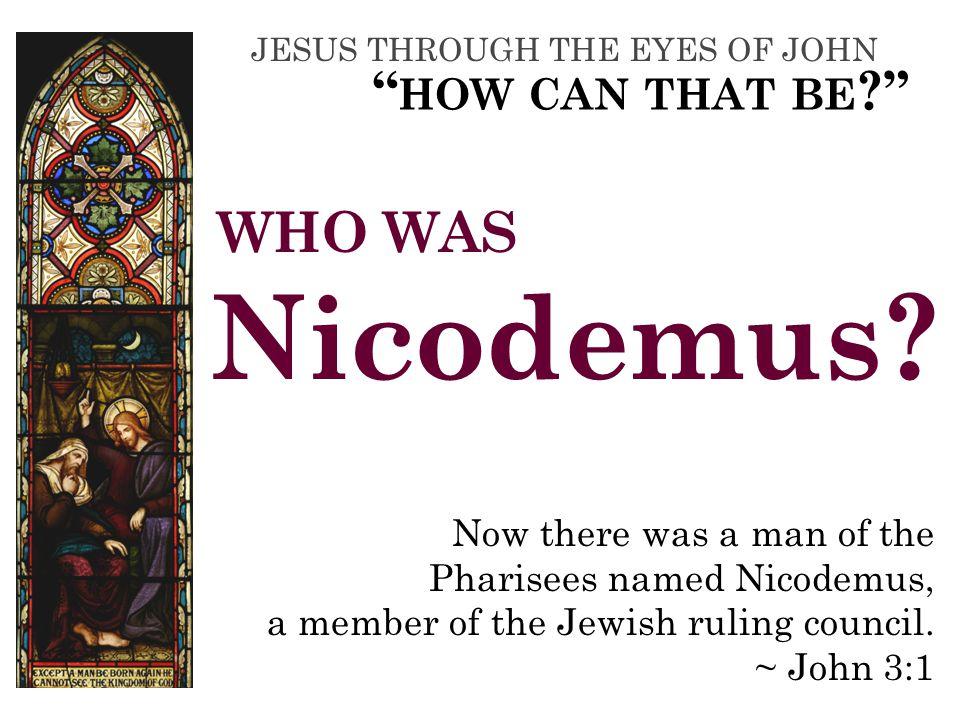 WHAT DID NICODEMUS ASK Jesus.