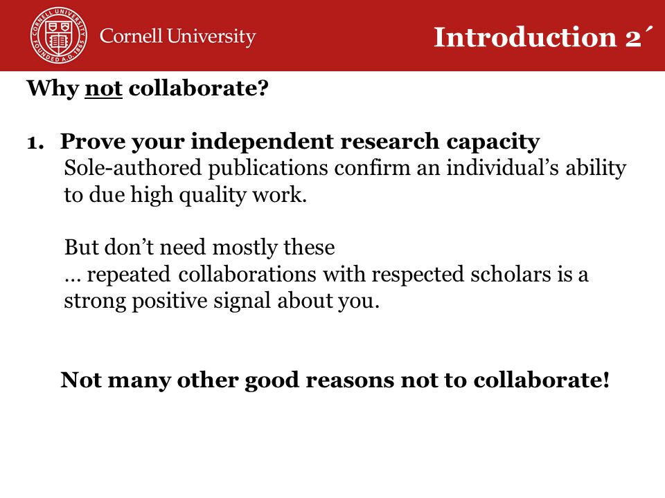 Why not collaborate.