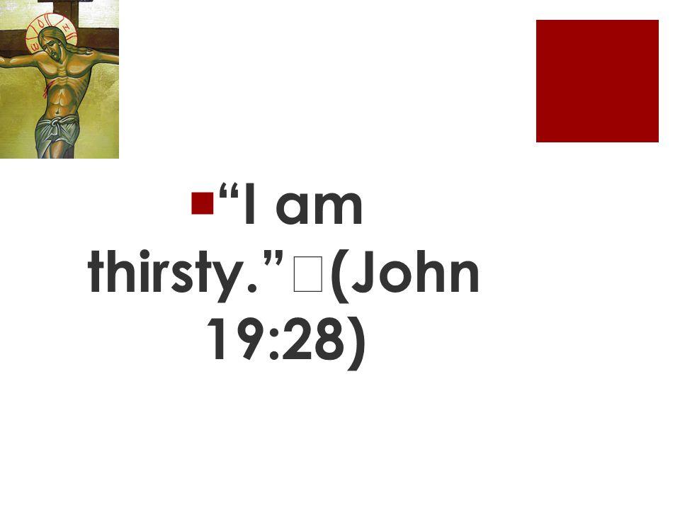  I am thirsty. (John 19:28)