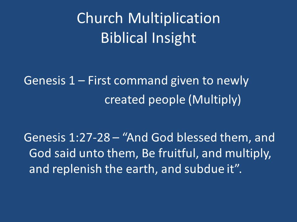 THE SPIRITUAL MULTIPLICATION PROCESS  Essential Ingredients necessary for a movement to take place.