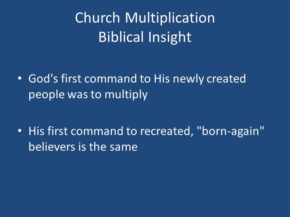 THE SPIRITUAL MULTIPLICATION PROCESS Step Three: Build C.
