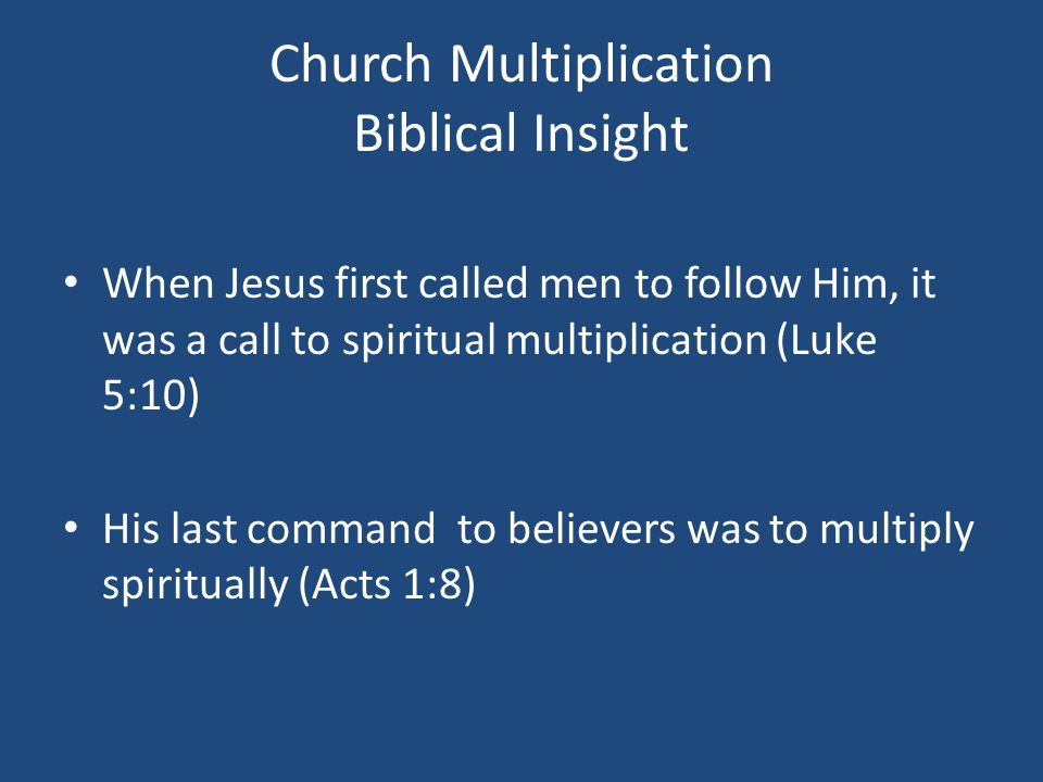 THE SPIRITUAL MULTIPLICATION PROCESS Step One: Expose A.