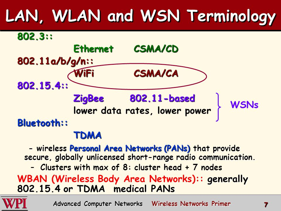 Wireless Networks Summary  802.11 AP Management Functions –Association with AP, active and passive scanning, beacon frames  802.11 MAC Sub-Layer –Overlapping channels –Hidden terminal problem, exposed station problem –DCF CSMA/CA MACAW Advanced Computer Networks Wireless Networks 68