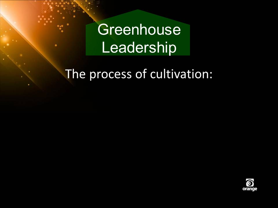 The process of cultivation: Greenhouse Leadership