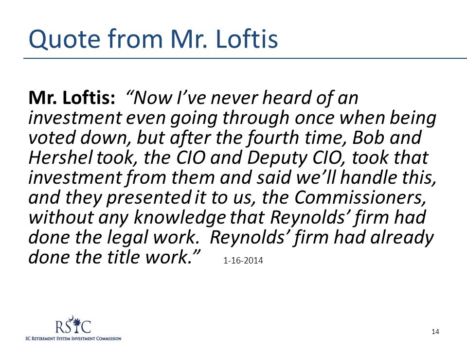 Quote from Mr.Loftis Mr.