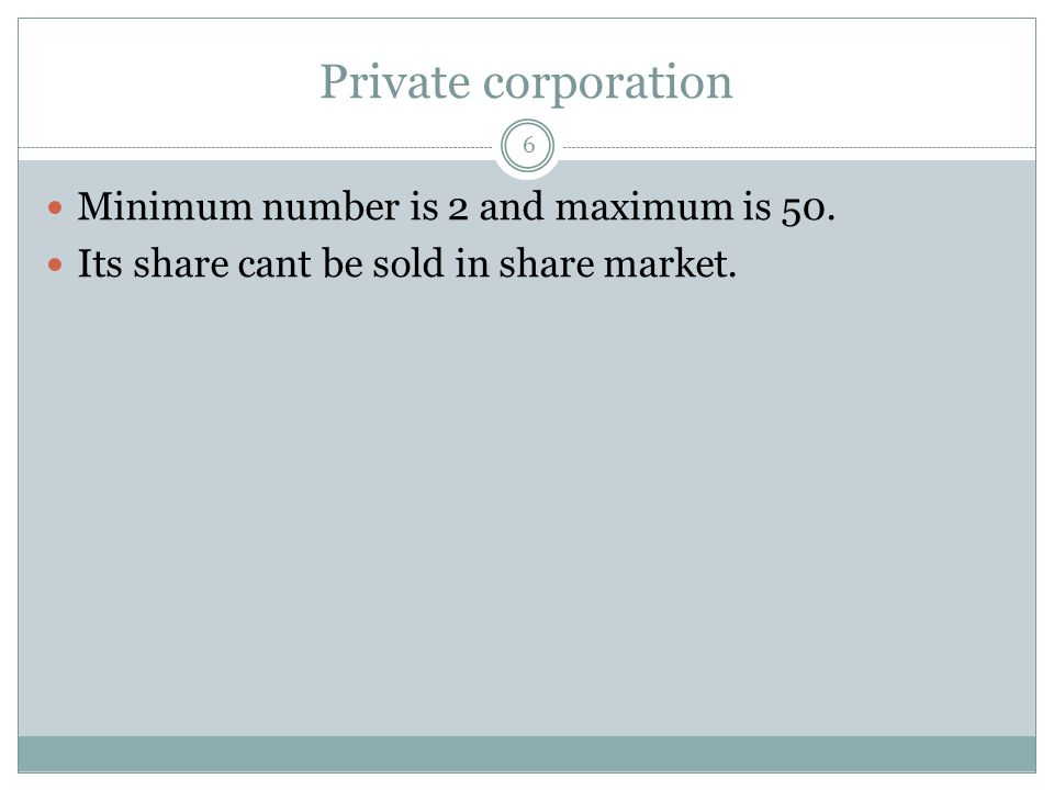 Features of Joint Stock Company There are some characteristics of Joint Stock company.