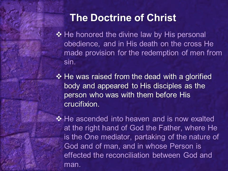 The Doctrine of Christ  There is no other way.