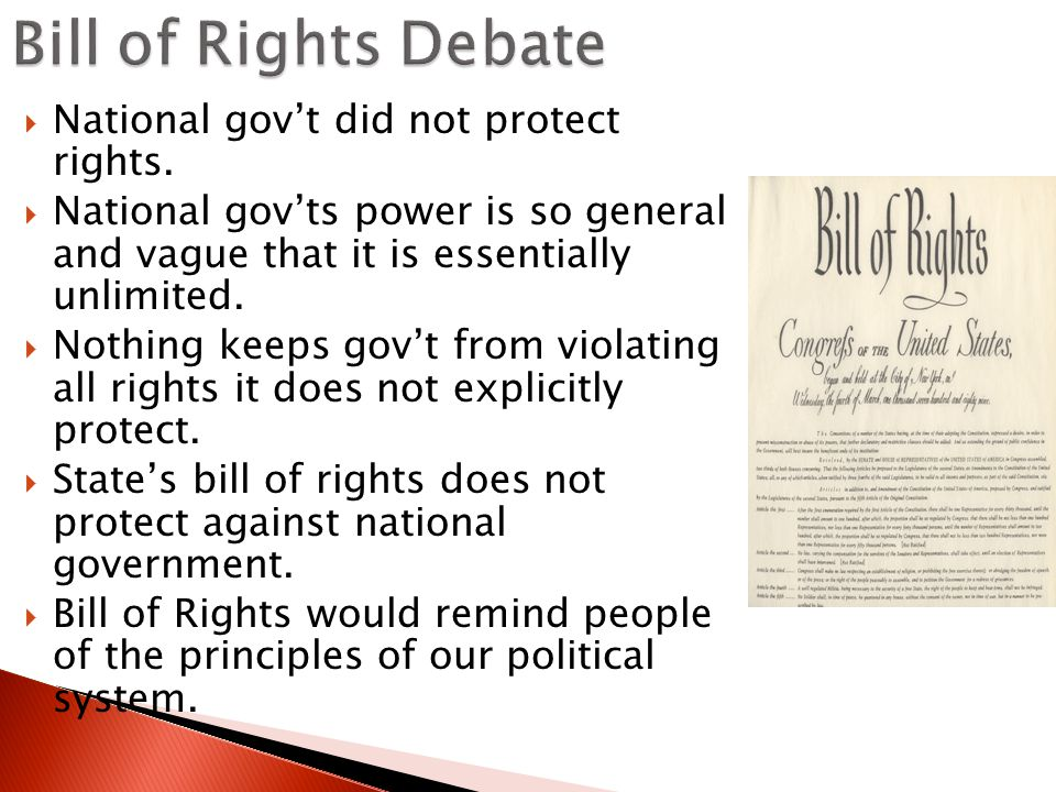  National gov't did not protect rights.
