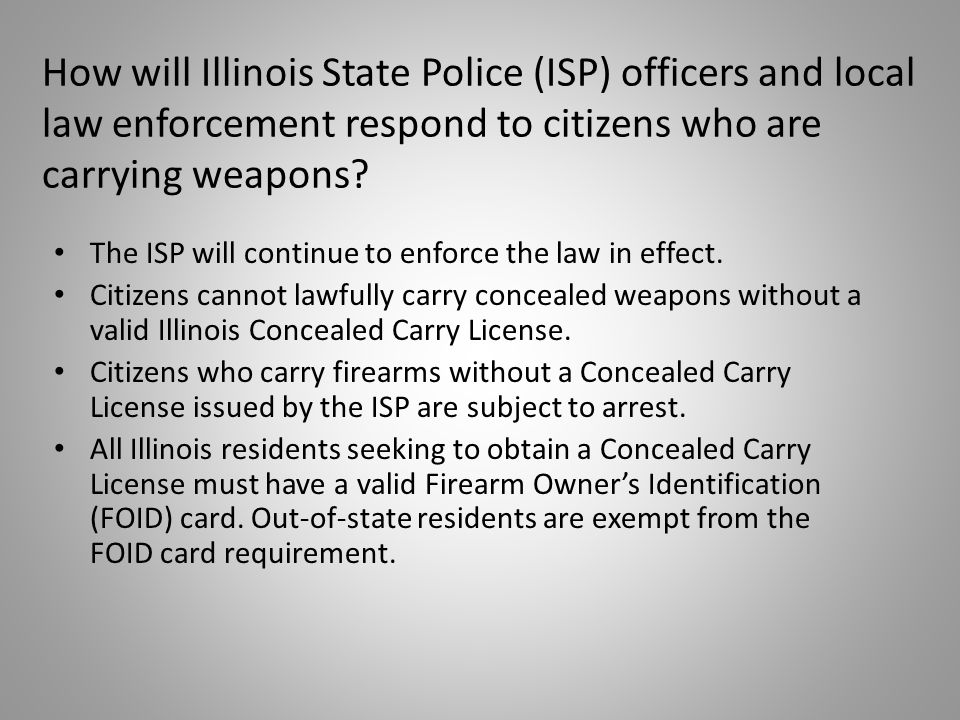 The ISP will continue to enforce the law in effect.
