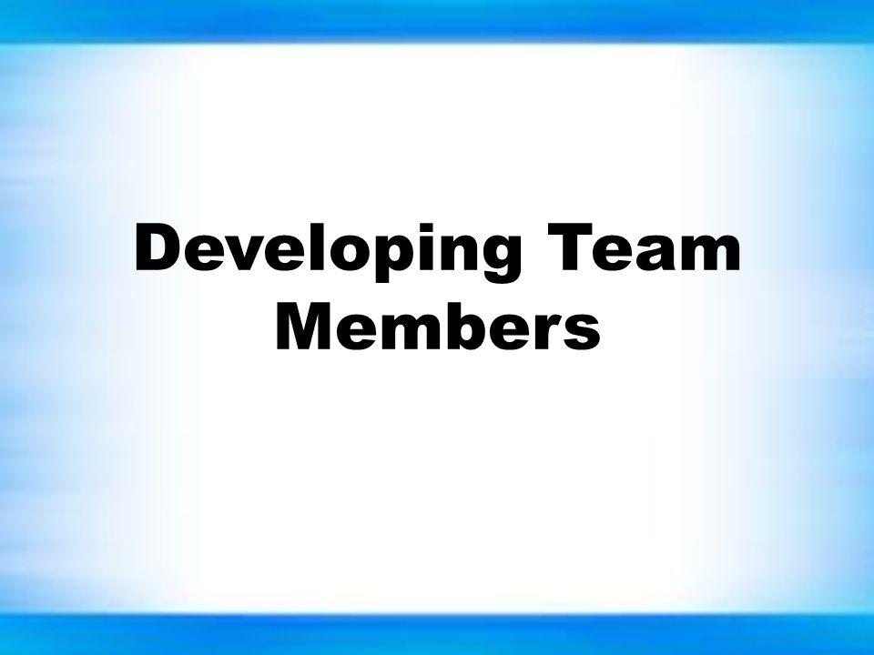 Developing Team Members
