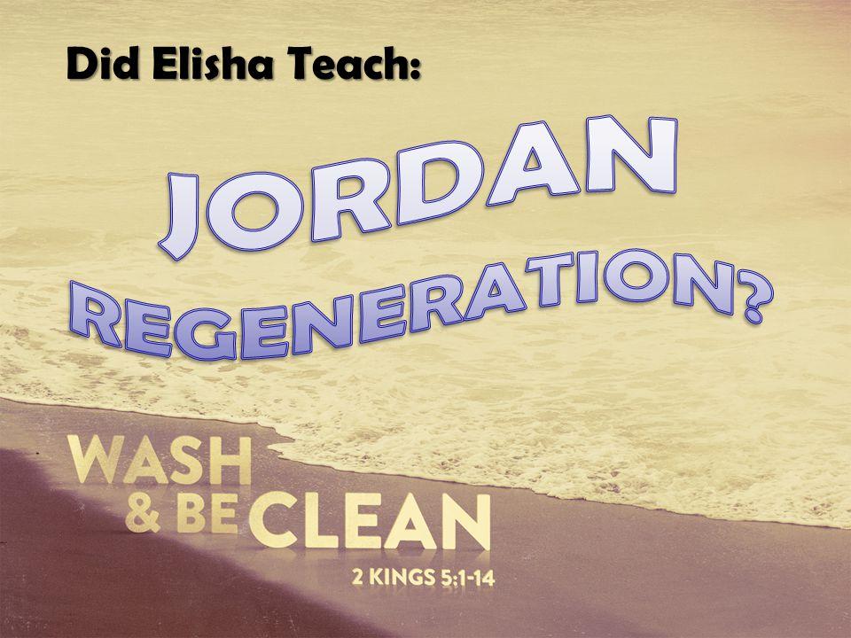 Did Elisha Teach: