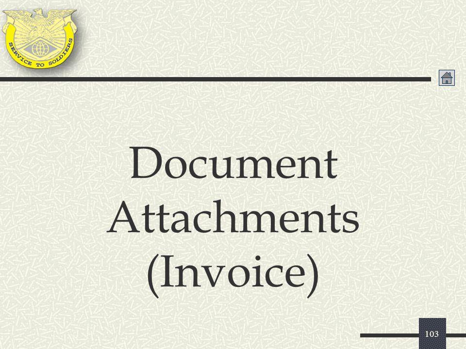 103 Document Attachments (Invoice)