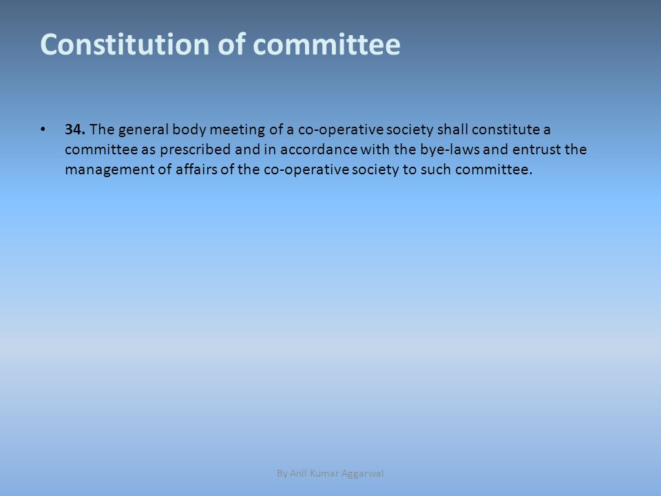 Constitution of committee 34.