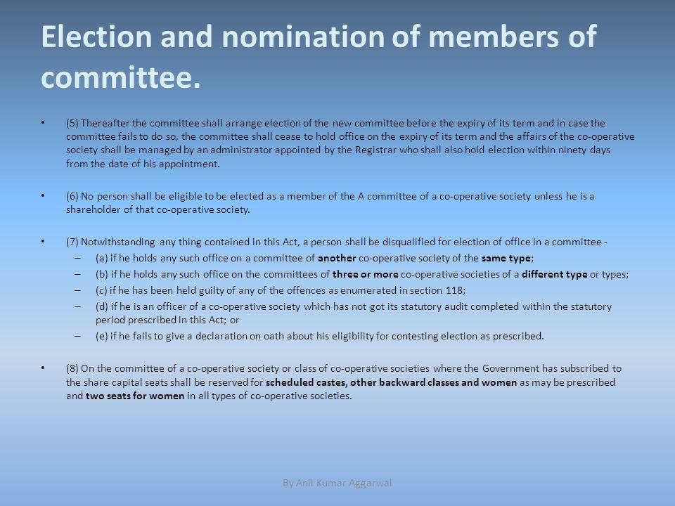 Expulsion of members.