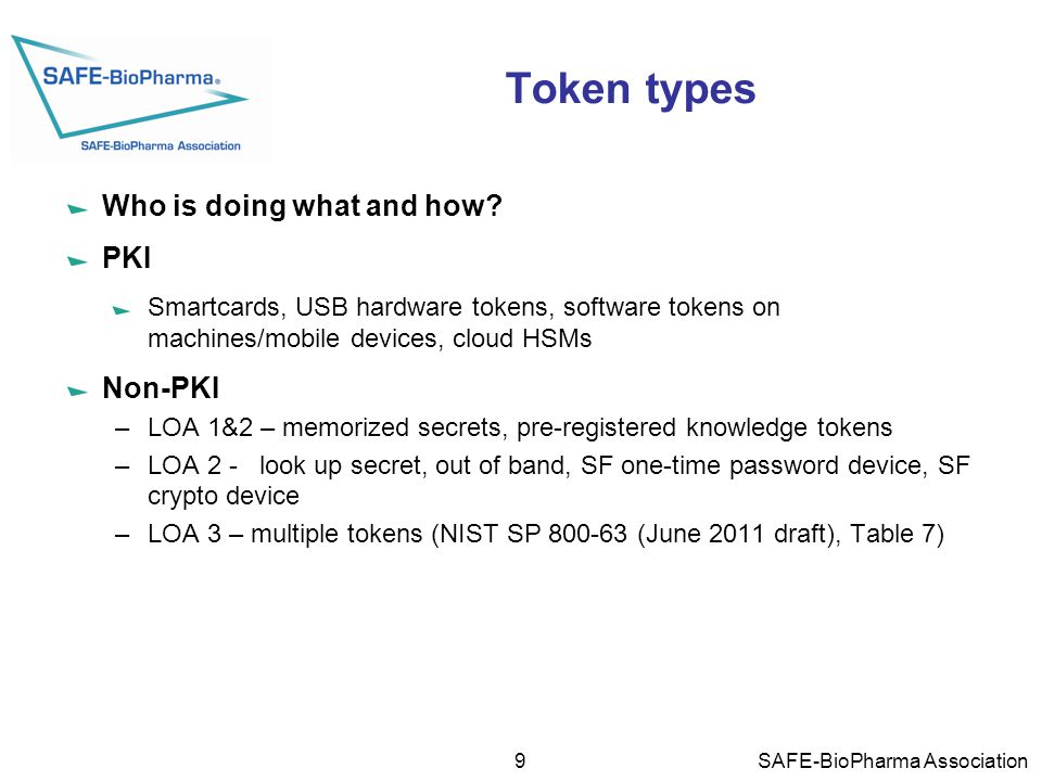 Token types Who is doing what and how.