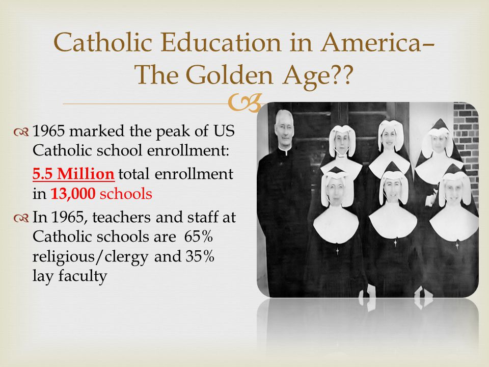  Catholic Education in America– The Golden Age?.