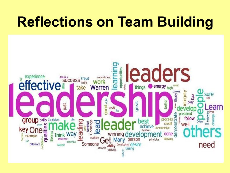 Reflections on Team Building