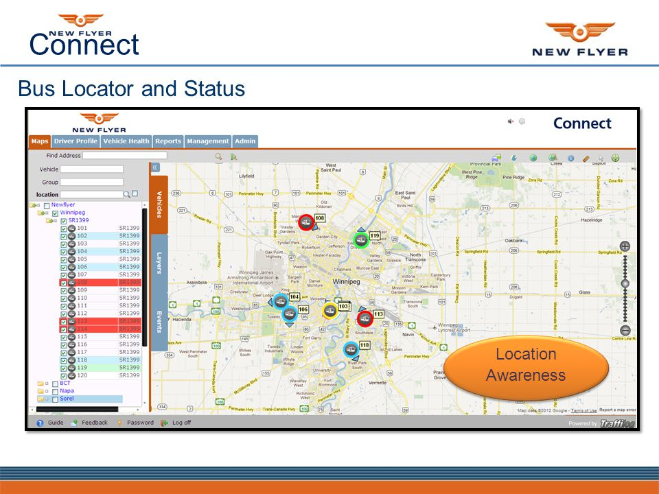Connect Bus Locator and Status Location Awareness