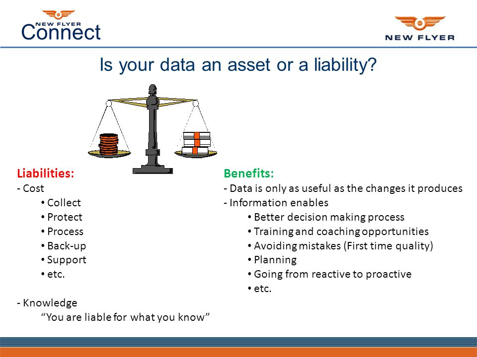 Connect Is your data an asset or a liability.